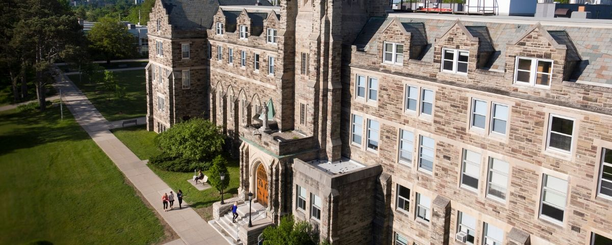 Aerial view of Ursuline Hall, Brescia.